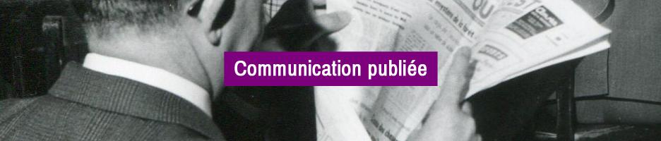 COMMUNICATION PUBLIÉE : Une demeure pour les archives de critiques d'art